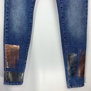 Mavi Jeans - Mavi Adriana mid rise super skinny galactic patch